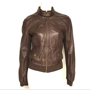 Anthropologie brand Idra retro leather jacket